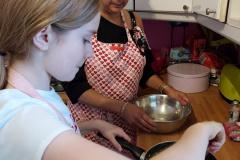 making-brownies